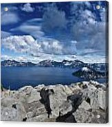 Wide View Of Crater Lake Acrylic Print