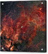 Widefield View Of He Crescent Nebula Acrylic Print