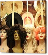 Wigs And Hats Acrylic Print