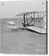 Wilbur Wright Crash Landing In Wright Acrylic Print