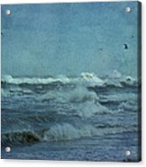 Wild Blue - High Surf - Outer Banks Acrylic Print