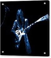 Wild Blue Guitar Acrylic Print