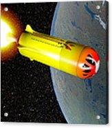 Wild Fire Private Spacecraft, Art Acrylic Print by Christian Darkin