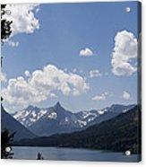 Wild Goose Island Floats In St Mary Lake Acrylic Print
