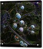 Wild Grapes Abstracted Acrylic Print