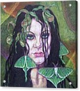 Wild Green Things Acrylic Print by Diana Shively