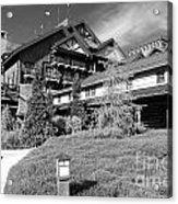 Wilderness Lodge Resort Beach Walt Disney World Prints Black And White Acrylic Print