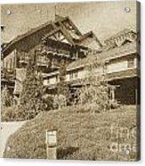 Wilderness Lodge Resort Beach Walt Disney World Prints Vintage Acrylic Print