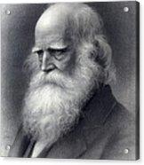 William Cullen Bryant 1794-1878 Was An Acrylic Print