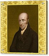 William Hyde Wollaston, English Chemist Acrylic Print