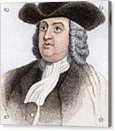 William Penn, English Coloniser Acrylic Print