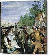 William Penns Treaty, 1682 Acrylic Print