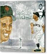 Willie Mays - The Greatest Acrylic Print