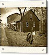 Williston Mill - Sepia Acrylic Print