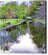 Williston Mill Stream Acrylic Print