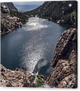 Willow Lake Waterfall Acrylic Print