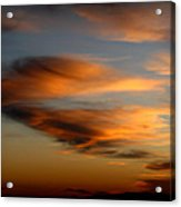 Wind Blown Sunset Sunset Clouds Over Mount Taylor Acrylic Print