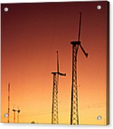 Wind Power For Agriculture Acrylic Print