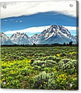 Wind River Range In West Central Wyoming - 02 Acrylic Print