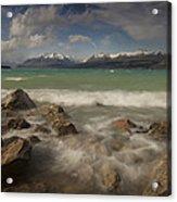 Wind Storm On Lake Pukaki Acrylic Print