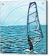 Wind Surfer Acrylic Print