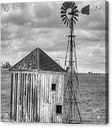 Windmill And Shack Acrylic Print