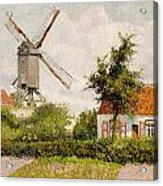 Windmill At Knokke Acrylic Print