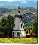 Windmill At Mission Meadows Solvang Acrylic Print