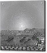 Windmill Glowin Landscape Acrylic Print