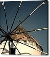 windmill Greece Acrylic Print by Joana Kruse
