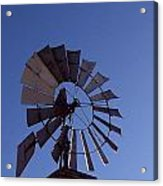 Windmill In Blue  Acrylic Print