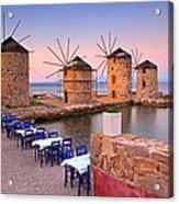 Windmills 2  Acrylic Print by Emmanuel Panagiotakis