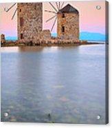 Windmills  Acrylic Print by Emmanuel Panagiotakis