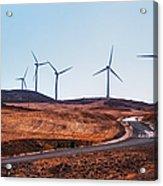 Windmills Near El Chorro Acrylic Print