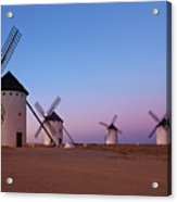 Windmills Of La Mancha - Central Spain Acrylic Print