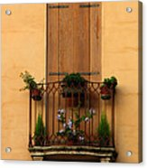 Window And Balcony In Vicenza Acrylic Print