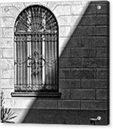 Window And Shadow On A Wall With Bike Acrylic Print