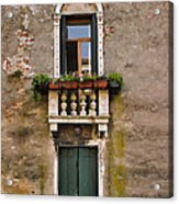 Window Art Venice Acrylic Print by Forest Alan Lee