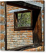 Window Geometry At Alamo Ranch Acrylic Print