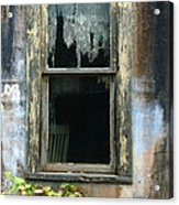 Window In Old Wall Acrylic Print by Jill Battaglia
