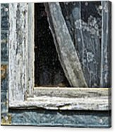 Window Of Old Abandoned Building Acrylic Print