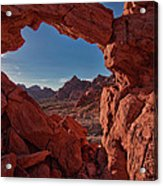 Window On The Valley Of Fire Acrylic Print