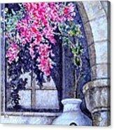 Window Shadow In Athens Greece Acrylic Print