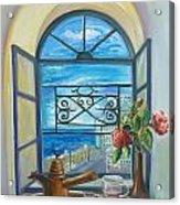 window to Jaffa Acrylic Print