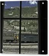 Window To The Rail Yard Acrylic Print