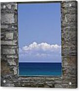 Window View At Fayette State Park Michigan Acrylic Print