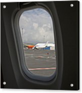 Window View On An Airplane Acrylic Print