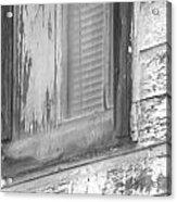 Window With Screen Acrylic Print