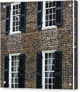 Windows At The Clover Hill Tavern Appomattox Virginia Acrylic Print
