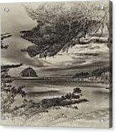 Windy Cove Bw Acrylic Print